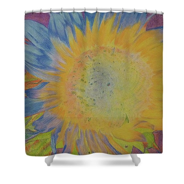 Shower Curtain featuring the pastel Sunglow by Cris Fulton