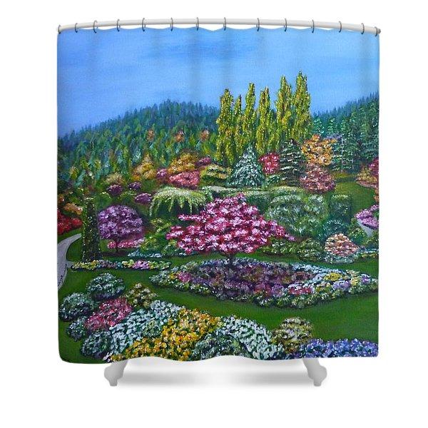 Sunken Garden Shower Curtain