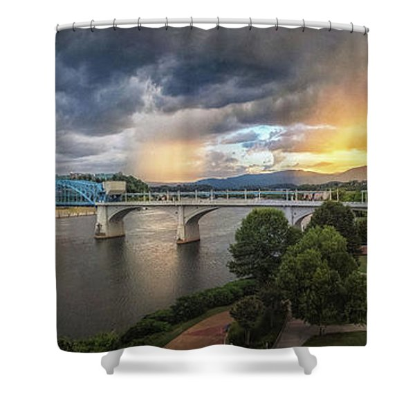 Sunlight And Showers Over Chattanooga Shower Curtain