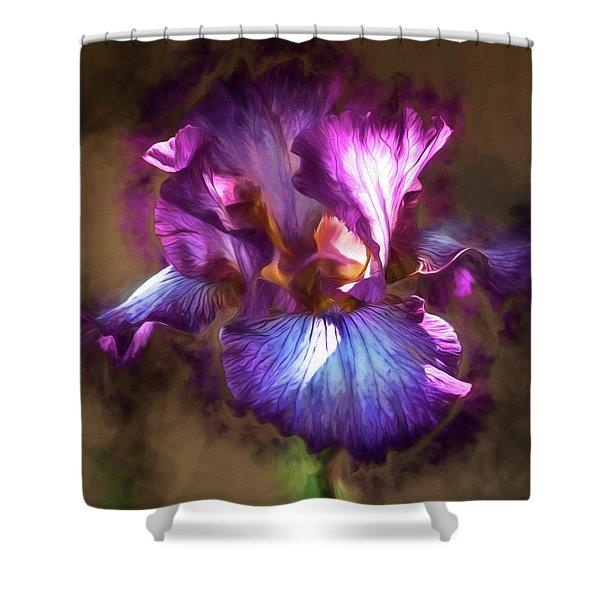 Sunlight Dancing On Iris Shower Curtain