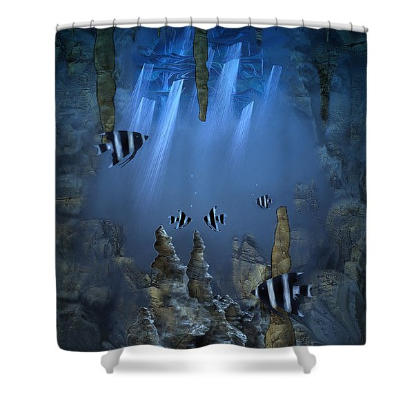 Sunlight From Above Shower Curtain