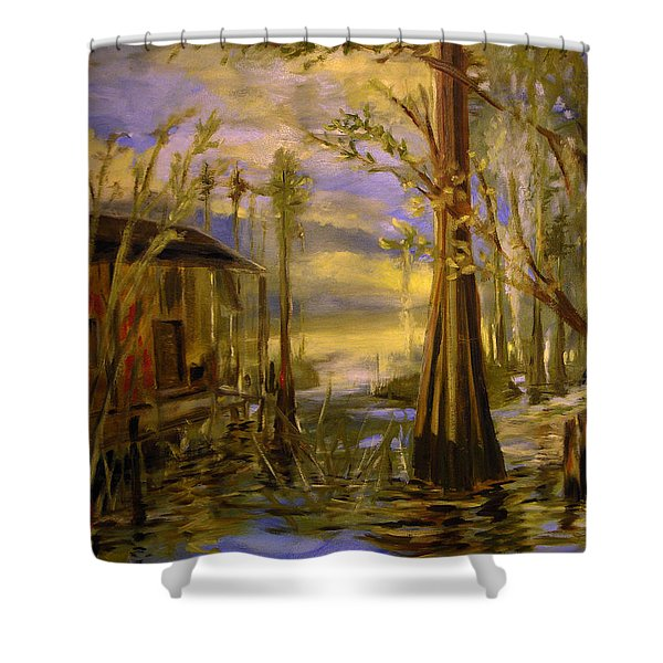 Sunlight On The Swamp Shower Curtain