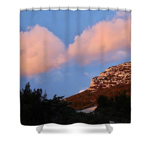 Sunlit Path Shower Curtain