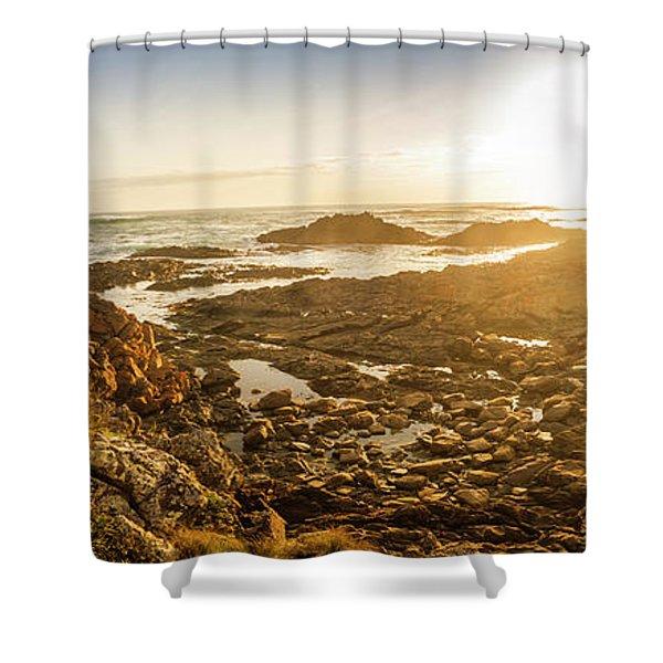 Sunlit Seaside Shower Curtain