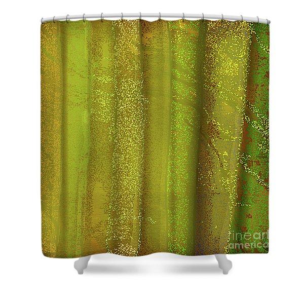 Sunlit Fall Forest Shower Curtain
