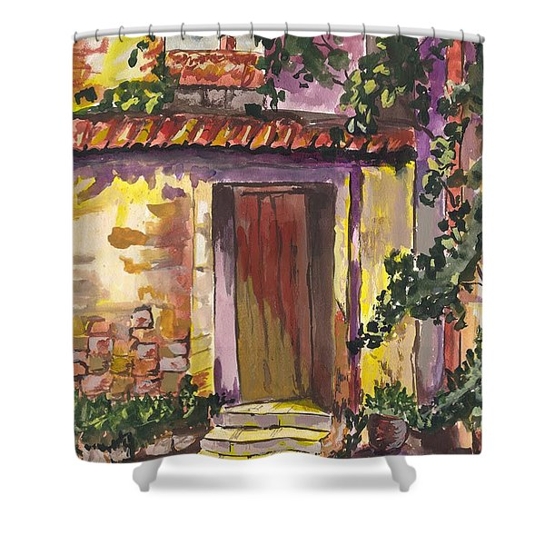 Sunny Doorway Shower Curtain