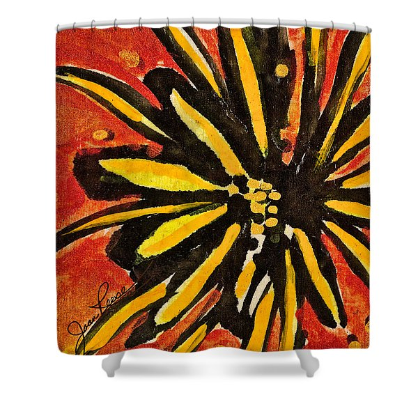 Sunny Hues Watercolor Shower Curtain