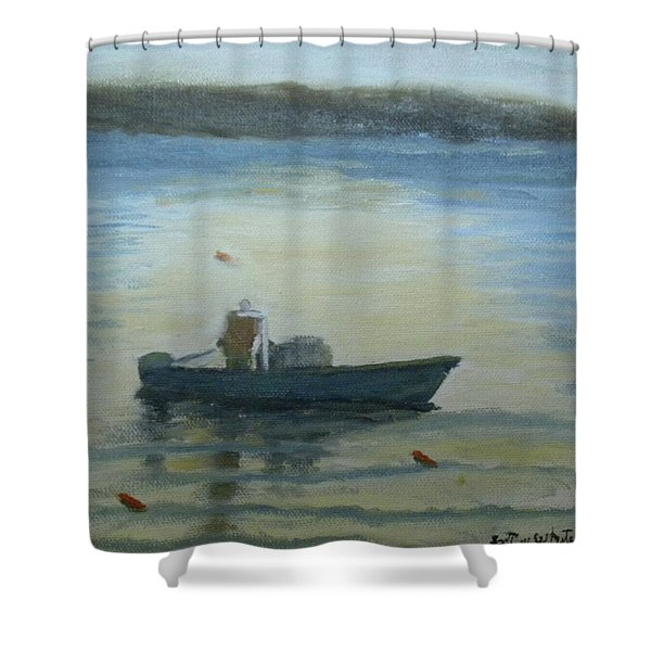 Sunny Morning And Lobster Shower Curtain
