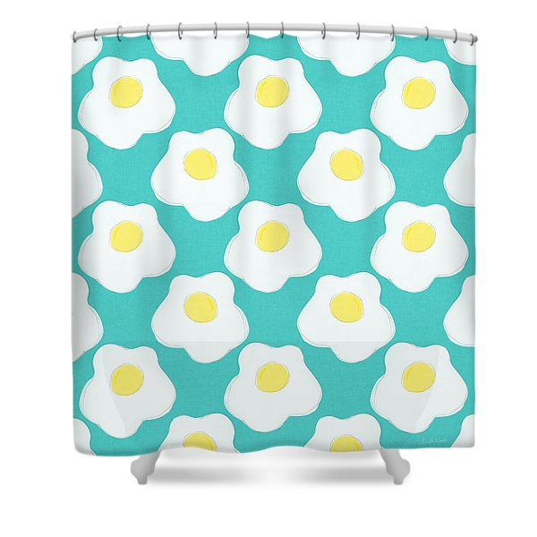 Sunny Side Up Eggs- Art By Linda Woods Shower Curtain