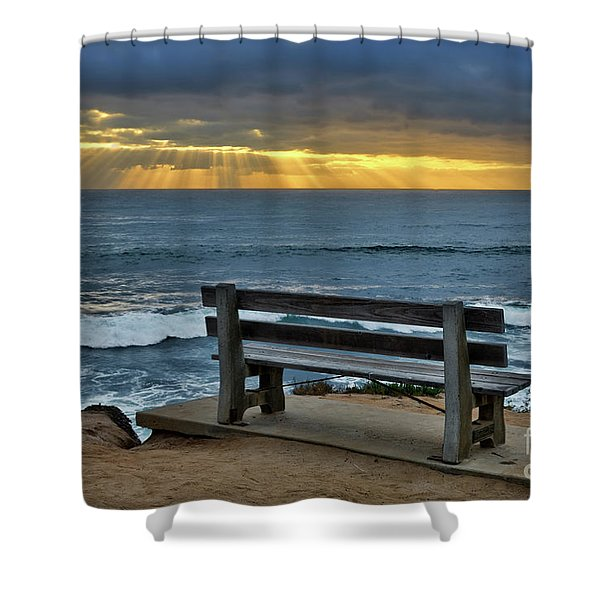 Sunrays On The Horizon Shower Curtain