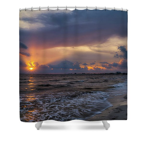 Sunrays Over The Gulf Of Mexico Shower Curtain