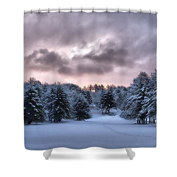 Sunrise After The Snow  Shower Curtain