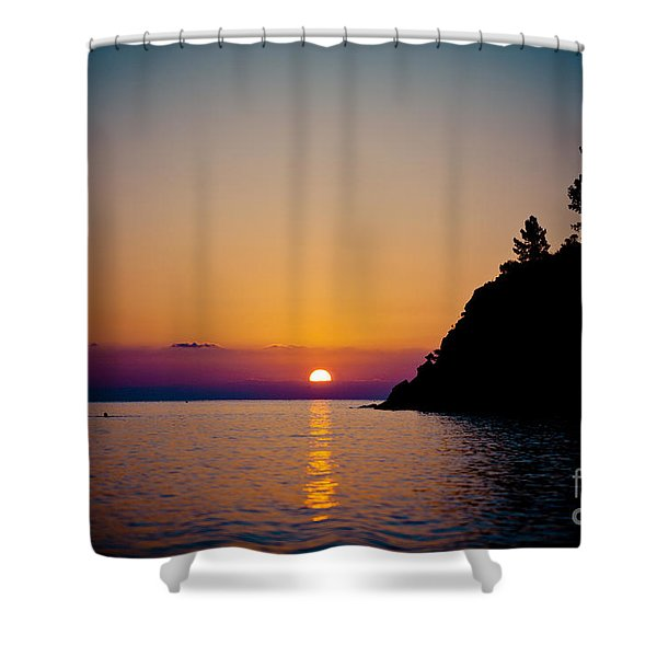 Sunrise And Seascape Shower Curtain