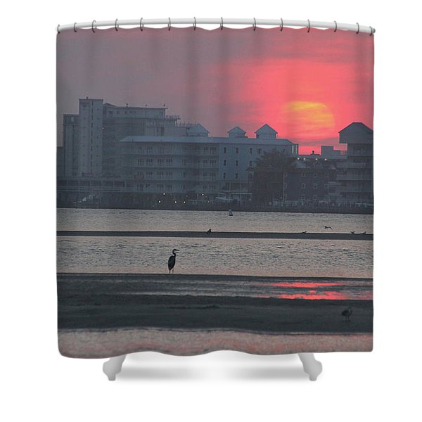 Sunrise And Skyline Shower Curtain