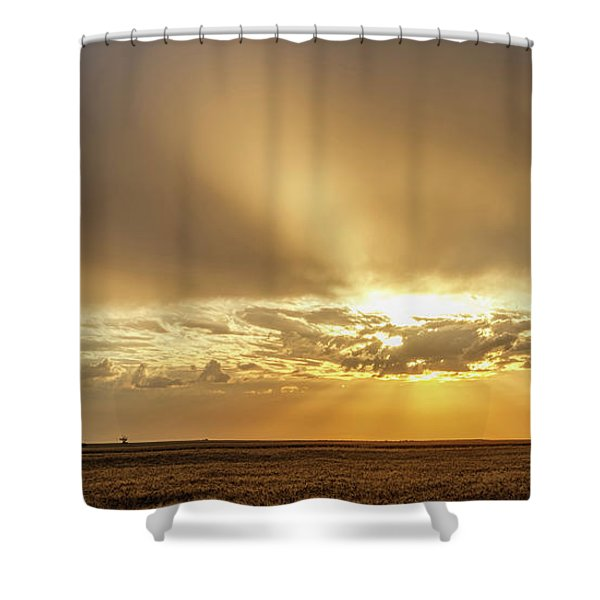 Shower Curtain featuring the photograph Sunrise And Wheat 04 by Rob Graham