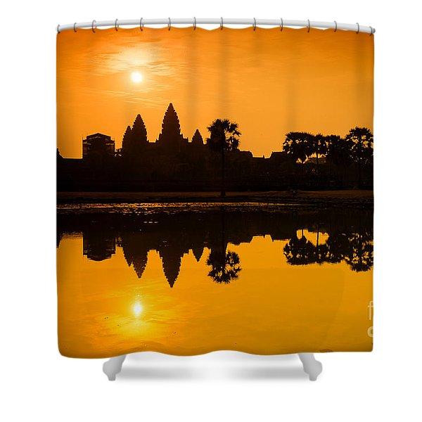 Sunrise At Angkor Wat Shower Curtain
