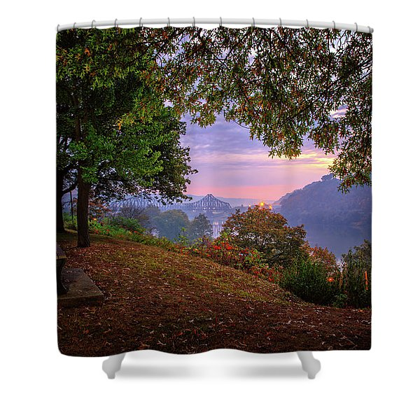 Sunrise At River Rd  Shower Curtain