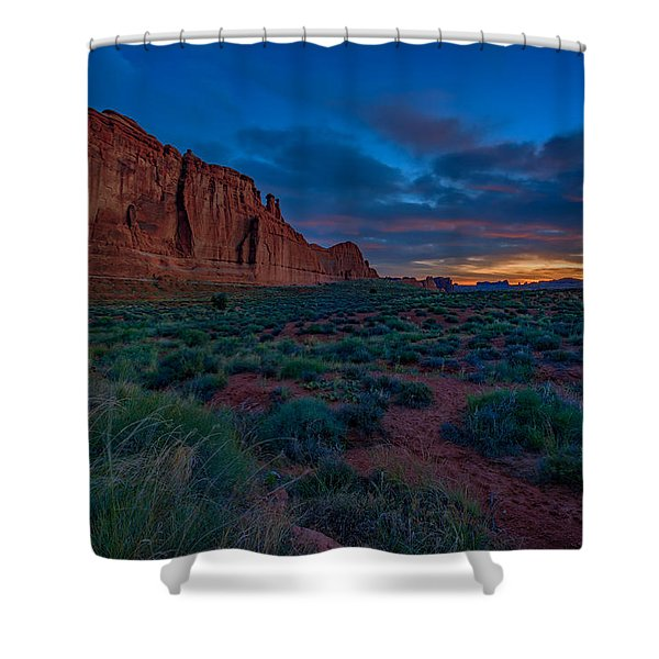 Sunrise At Courthouse Towers Shower Curtain