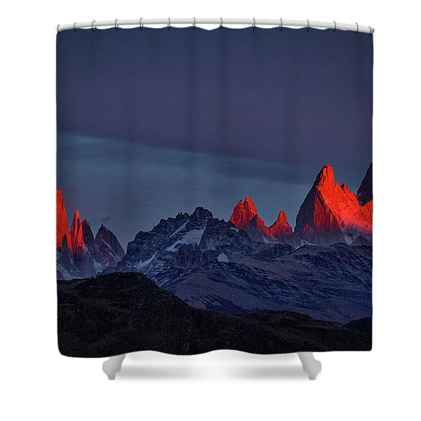 Sunrise At Fitz Roy #2 - Patagonia Shower Curtain