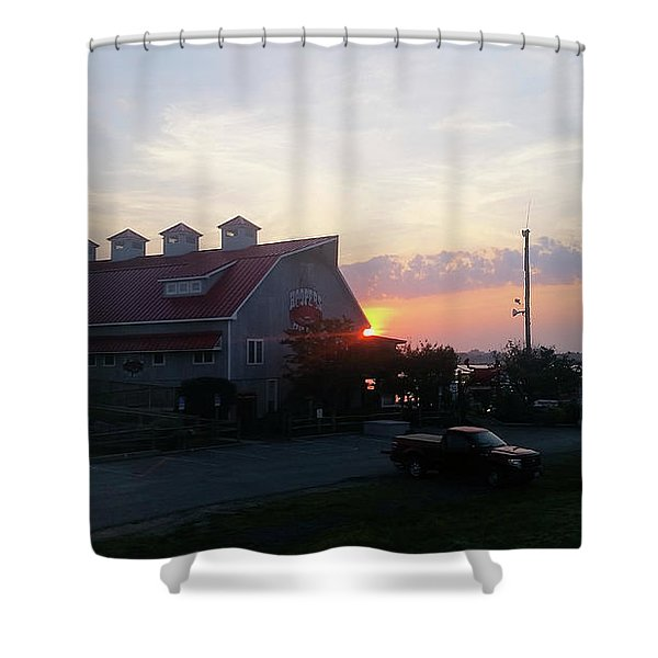 Sunrise At Hooper's Crab House Shower Curtain