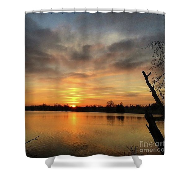 Sunrise At Jacobson Lake Shower Curtain