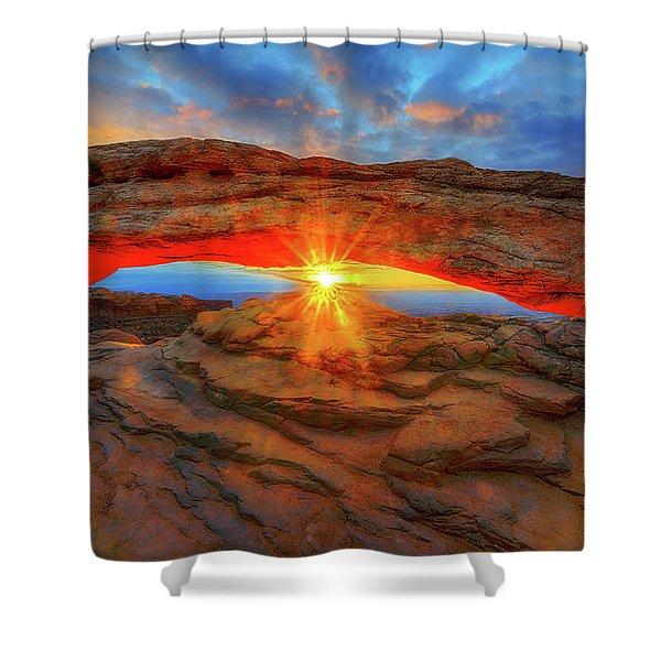 Sunrise At Mesa Arch Shower Curtain