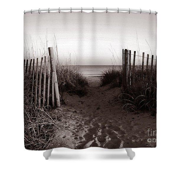 Sunrise At Myrtle Beach Sc Shower Curtain by Susanne Van Hulst