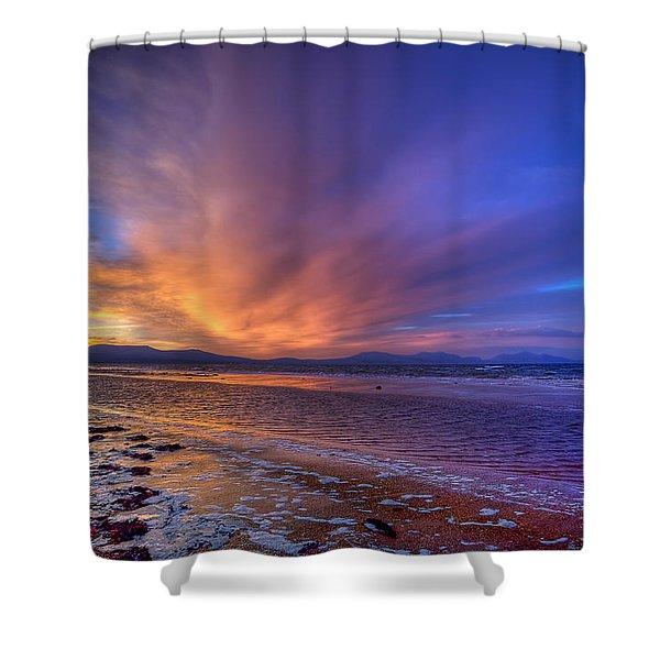 Sunrise At Newborough Shower Curtain