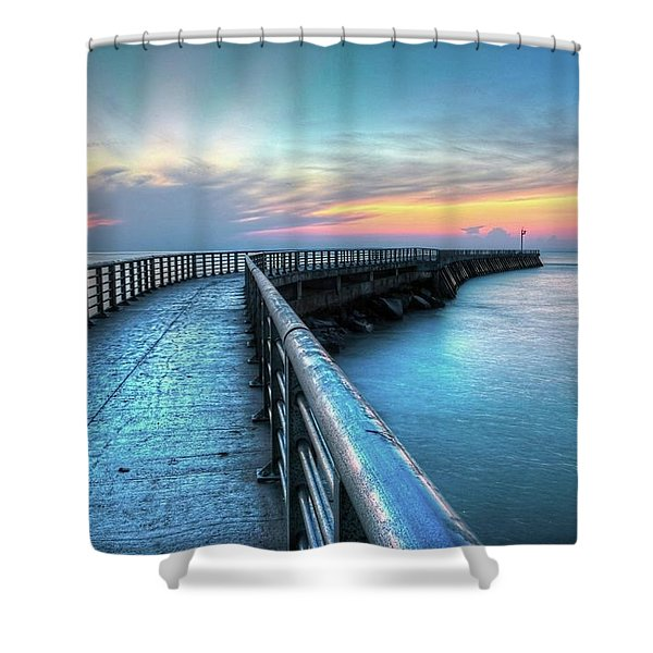 Sunrise At Sebastian Inlet Shower Curtain