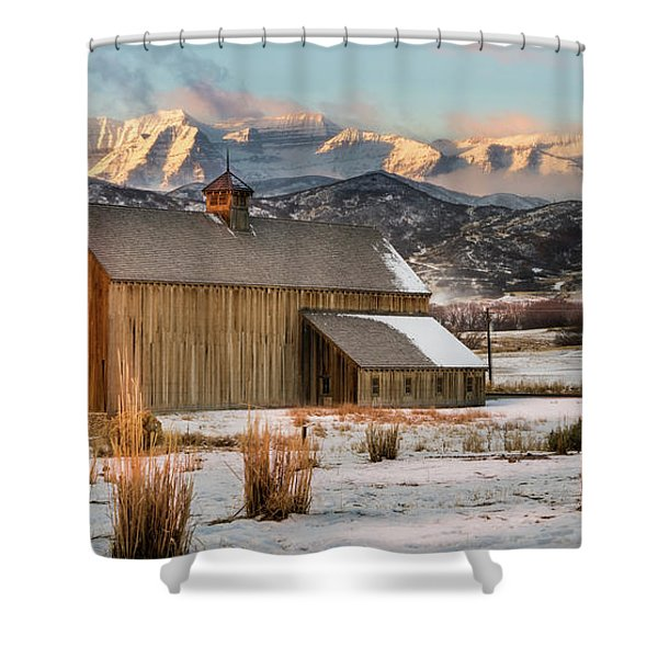 Sunrise At Tate Barn Shower Curtain