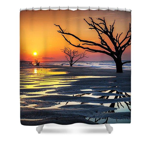 Sunrise At The Boneyard Shower Curtain