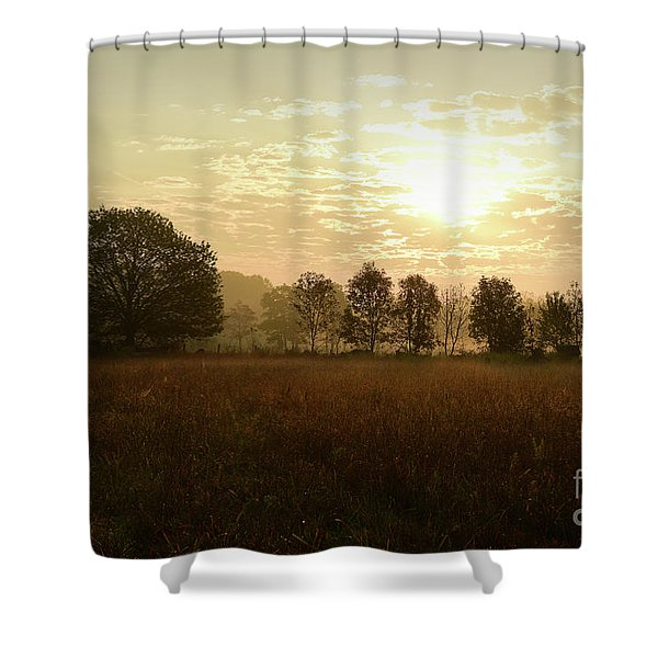 Sunrise Autumn Equinox 2017 Shower Curtain