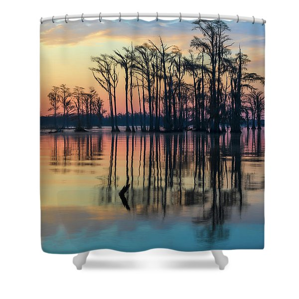 Sunrise, Bald Cypress Of Nc  Shower Curtain