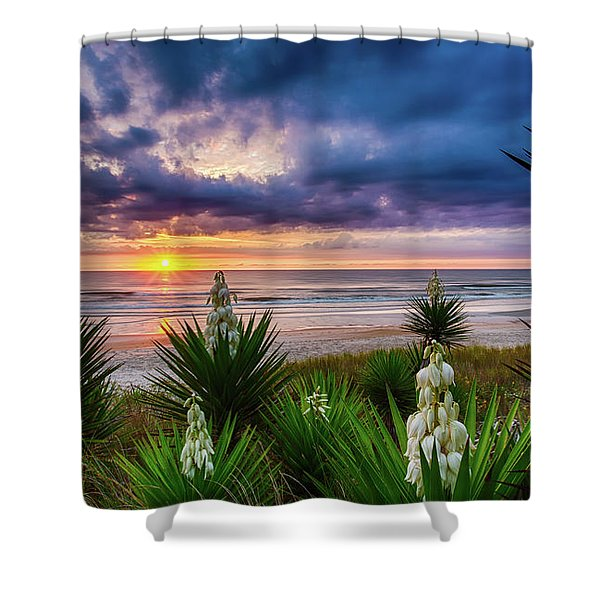 Sunrise Blooms Shower Curtain