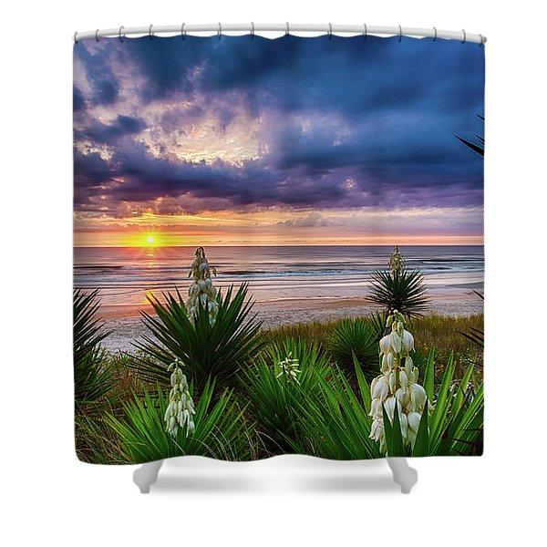Sunrise Blooms Shower Curtain