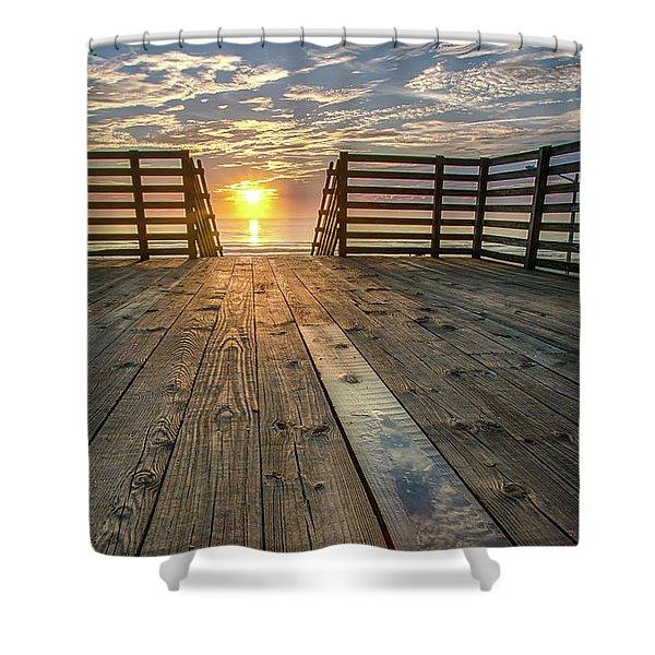 Sunrise Boardwalk Shower Curtain