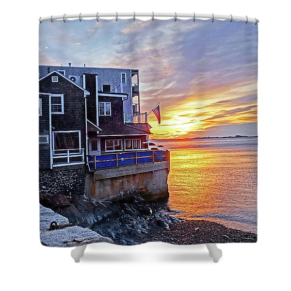 Sunrise By The Barnacle Marblehead Ma Shower Curtain