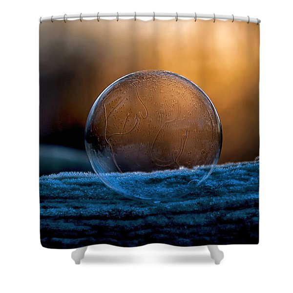 Sunrise Capture In Bubble Shower Curtain