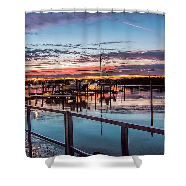 Sunrise Christmas Morning Shower Curtain