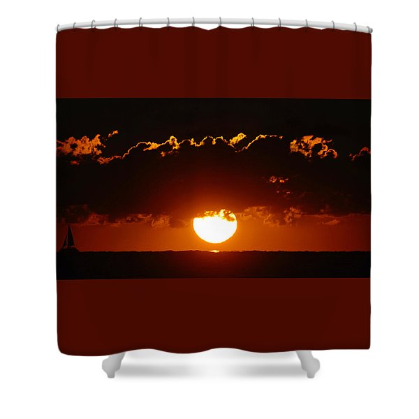 Sunrise Crown Shower Curtain