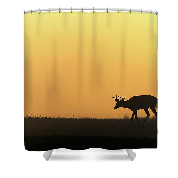 Sunrise Deer Shower Curtain