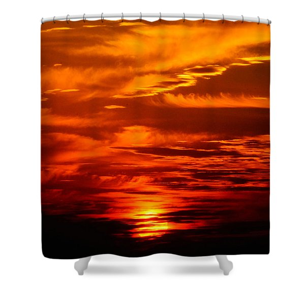 Sunrise Feathers Shower Curtain