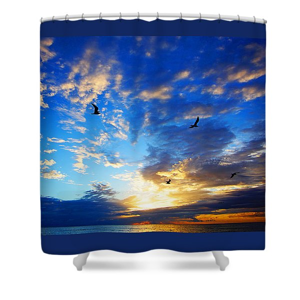 Sunrise Freedom Shower Curtain
