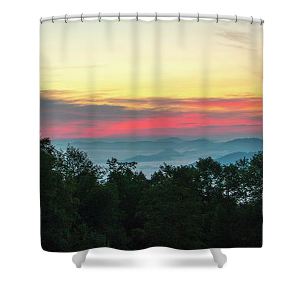 Sunrise From Maggie Valley August 16 2015 Shower Curtain