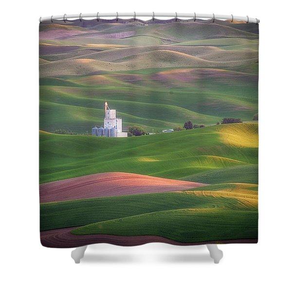 Sunrise From Steptoe Butte. Shower Curtain