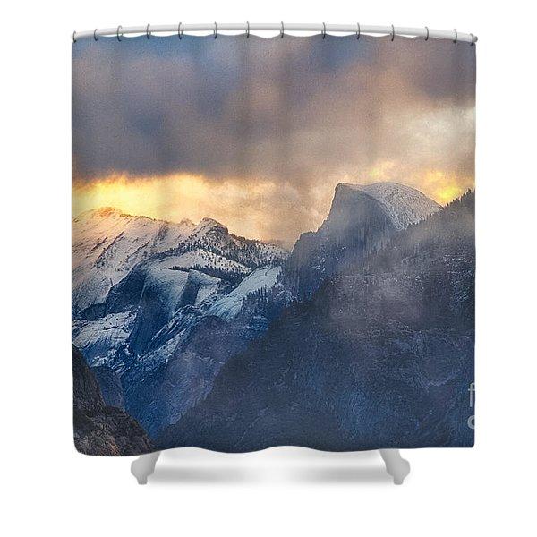 Sunrise Half Dome Shower Curtain