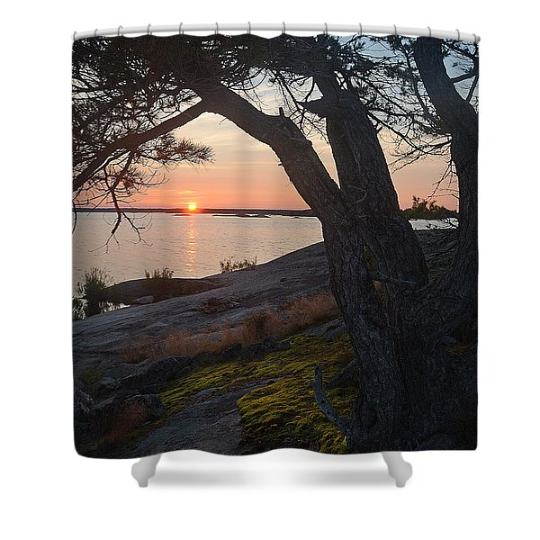 Sunrise Hopewell Island Shower Curtain