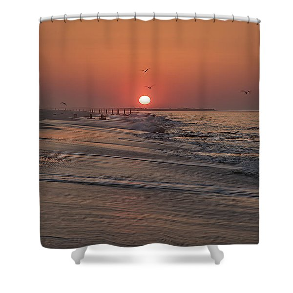 Sunrise In Cape May Shower Curtain