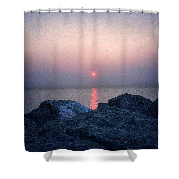 Sunrise In Chicago Shower Curtain