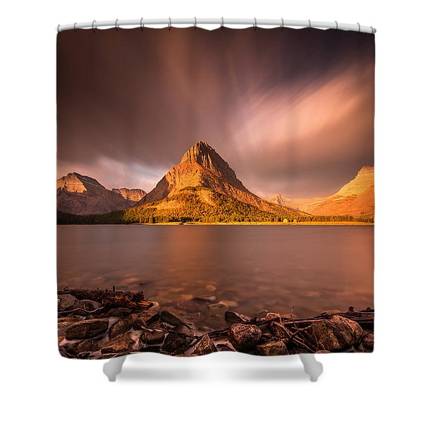 Sunrise In Glacier National Park Shower Curtain